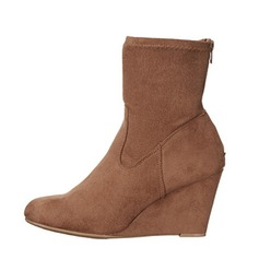 Women's Suede Wedge Heel Wedges Ankle Boots shoes