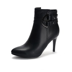 Women's Leatherette Stiletto Heel Ankle Boots With Split Joint shoes