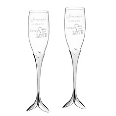 Personalized Love Design Glass/Aluminum