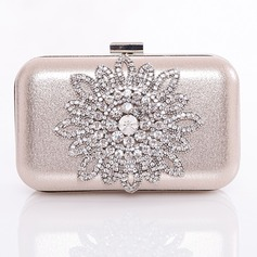 Fashional Satin/Metal With Beading/Glitter/Metal Clutches/Evening Handbags