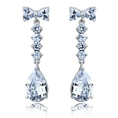 Exquisite Alloy With CZ Cubic Zirconia Ladies' Fashion Earrings