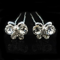 Lovely Alloy/Czech Stones Hairpins (Set of 2)
