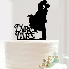 Kissing Couple Acrylic Cake Topper