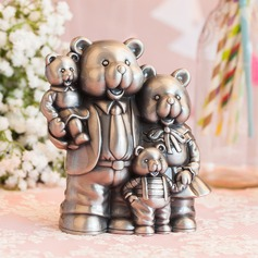 Cute Animal Cute Bear Tin Alloy Piggy Bank