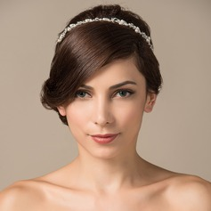 Glamourous Rhinestone/Imitation Pearls/Copper Headbands