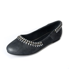 Women's Leatherette Flat Heel Flats Closed Toe With Braided Strap shoes