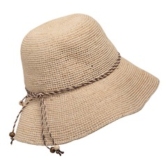 Ladies' Nice Raffia Straw With Bowknot Straw Hat