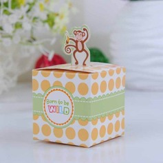 Happy Monkey Baby Shower With Banana Cubic Favor Boxes