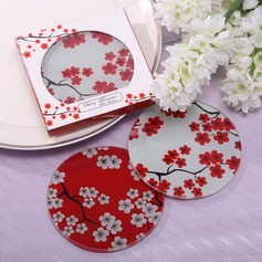 Pretty Sakura Design Glass Coaster