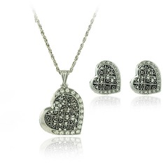 Nice Alloy Silver Plated With Rhinestone Ladies' Jewelry Sets