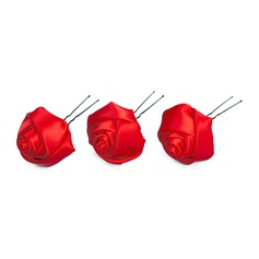 Gorgeous Satin Hairpins (Set of 3)