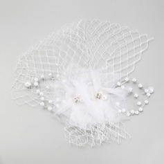 Vintage Imitation Pearls/Tulle Fascinators
