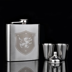 Elegant Stainless Steel 160ml(6-oz) Flasks