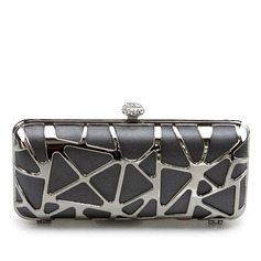 Gorgeous Silk With Metal Clutches