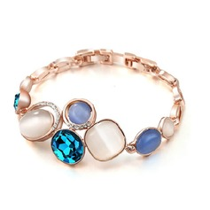 Attractive Alloy/Rhinestones With Cat's Eye Ladies' Bracelets