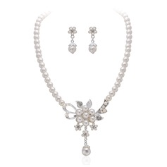 Charming Alloy/Pearl With Rhinestone Ladies' Jewelry Sets
