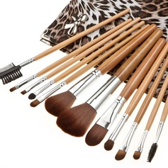 12 Pcs Fashion Makeup Brush Set With Leopard Bag