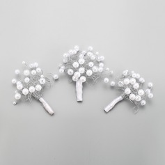 Elegant Alloy/Imitation Pearls Hairpins (Set of 3)