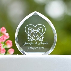 Personalized Ribbon Design Crystal Cake Topper/Crystal Item
