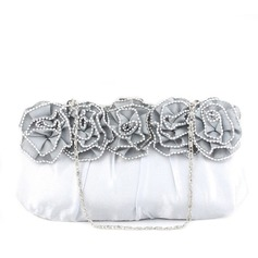 Lovely Silk With Crystal/ Rhinestone Clutches