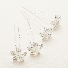 Handmade/Amazing Crystal/Alloy/Austrian Crystal Hairpins (Set of 4)