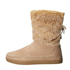 Women's Suede Flat Heel Boots Snow Boots With Fur shoes
