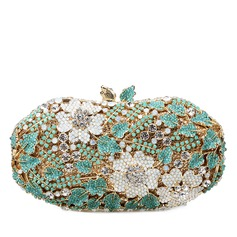 Charming Crystal/ Rhinestone/Gold Plated Clutches/Bridal Purse/Luxury Clutches