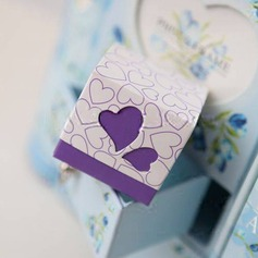 Heart Cut–outs Cubic Favor Boxes (Set of 12)
