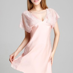 Lace/Artificial Silk Feminine Sleepwear
