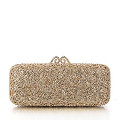 Shining Crystal/ Rhinestone/Rhinestone/Alloy/Gold Plated Clutches/Bridal Purse/Luxury Clutches