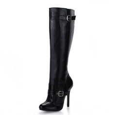 Women's Leatherette Stiletto Heel Knee High Boots shoes
