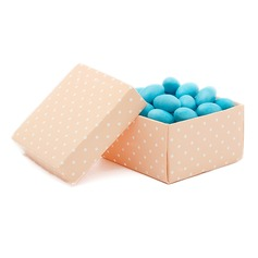 Polka Dots Pattern Cuboid Favor Boxes (Set of 12)