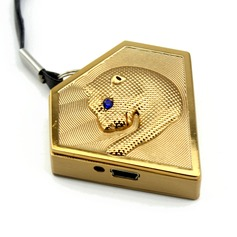 Personalized Leopard Design Stainless Steel Electronic Lighter