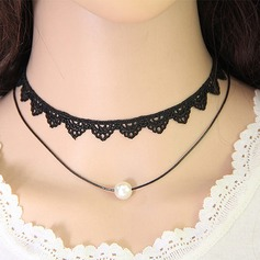 Unique Alloy With Lace Girls' Fashion Necklace