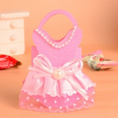 Baby Dress Design Handbag shaped Favor Bags With Bow (Set of 12)