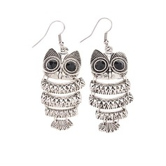 Cute Owl Alloy With Imitation Crystal Women's Fashion Earrings