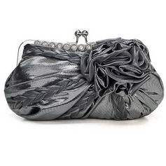 Elegant Satin/Fabric With Crystal/ Rhinestone/Flower Clutches/Evening Handbags