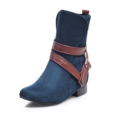 Women's Suede Low Heel Flats Closed Toe Boots Ankle Boots shoes