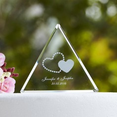 Personalized Triangle Crystal Cake Topper