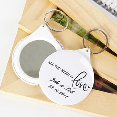 "Personalized ""All You Need is Love"" Plastic Keychains/Compact Mirror"