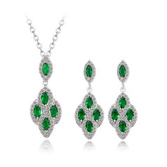 Gorgeous Zircon/Platinum Plated Ladies' Jewelry Sets