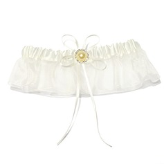 Attractive Satin Organza With Rhinestone Wedding Garters