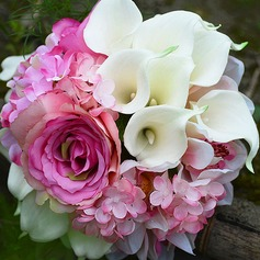 Ivory & Pink Simulation PU Materials/Artificial Silk Bridal Bouquets