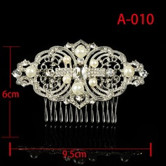 Ladies Charming Alloy/Imitation Pearls Combs & Barrettes