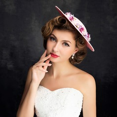 Ladies' Classic Lace/Linen With Flower Fascinators