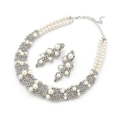 Exquisite Alloy/Pearl/Rhinestones Ladies' Jewelry Sets