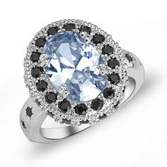 Sparking Zircon/Platinum Plated Ladies' Rings