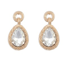 Elegant Alloy/Acrylic Ladies' Earrings