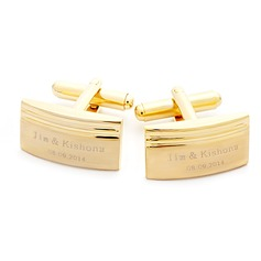 Personalized Delicate Stainless Steel Cufflinks