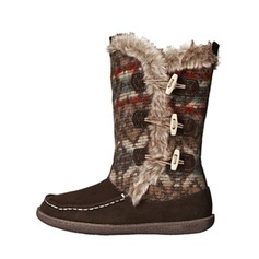 Women's Suede Flat Heel Flats Closed Toe Boots Mid-Calf Boots Snow Boots With Fur Button shoes